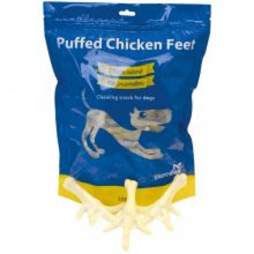 Puredog Puffed Chicken Feet Dog Treats 250g